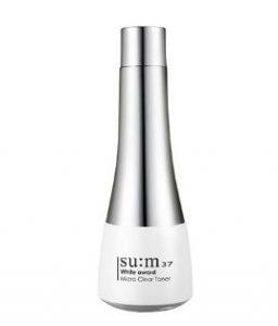 Nước hoa hồng dưỡng trắng da ẩm mịn Su:m37 White Award Micro Clear Toner